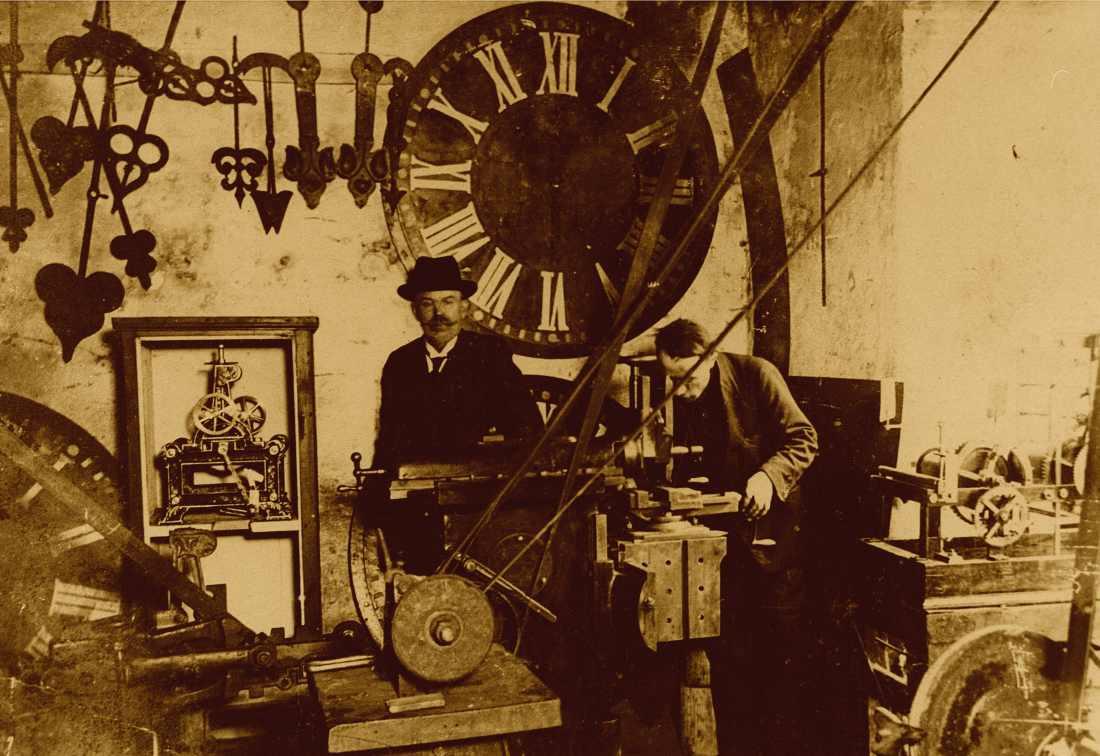 Michał Mięsowicz w swojej fabryce w Krośnie