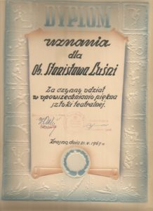 Dyplom uznania dla Macieja Luśni