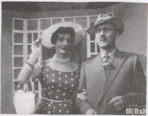 Fotografia czarno-biała przedstawiająca Wiktora i Weronikę Łąckich