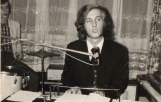 Wacław Juryś w restauracji Carpatia w 1972 roku. Fotografia biało-czarna