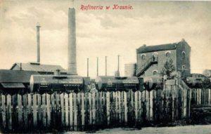 pocztówka z widokiem na rafinerię Krosno