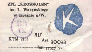 etykieta ZPL Krosnolen