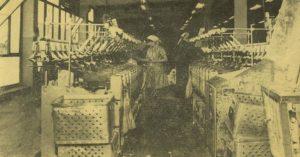 Wnętrze ZPL Krosnolen, pracująca kobieta
