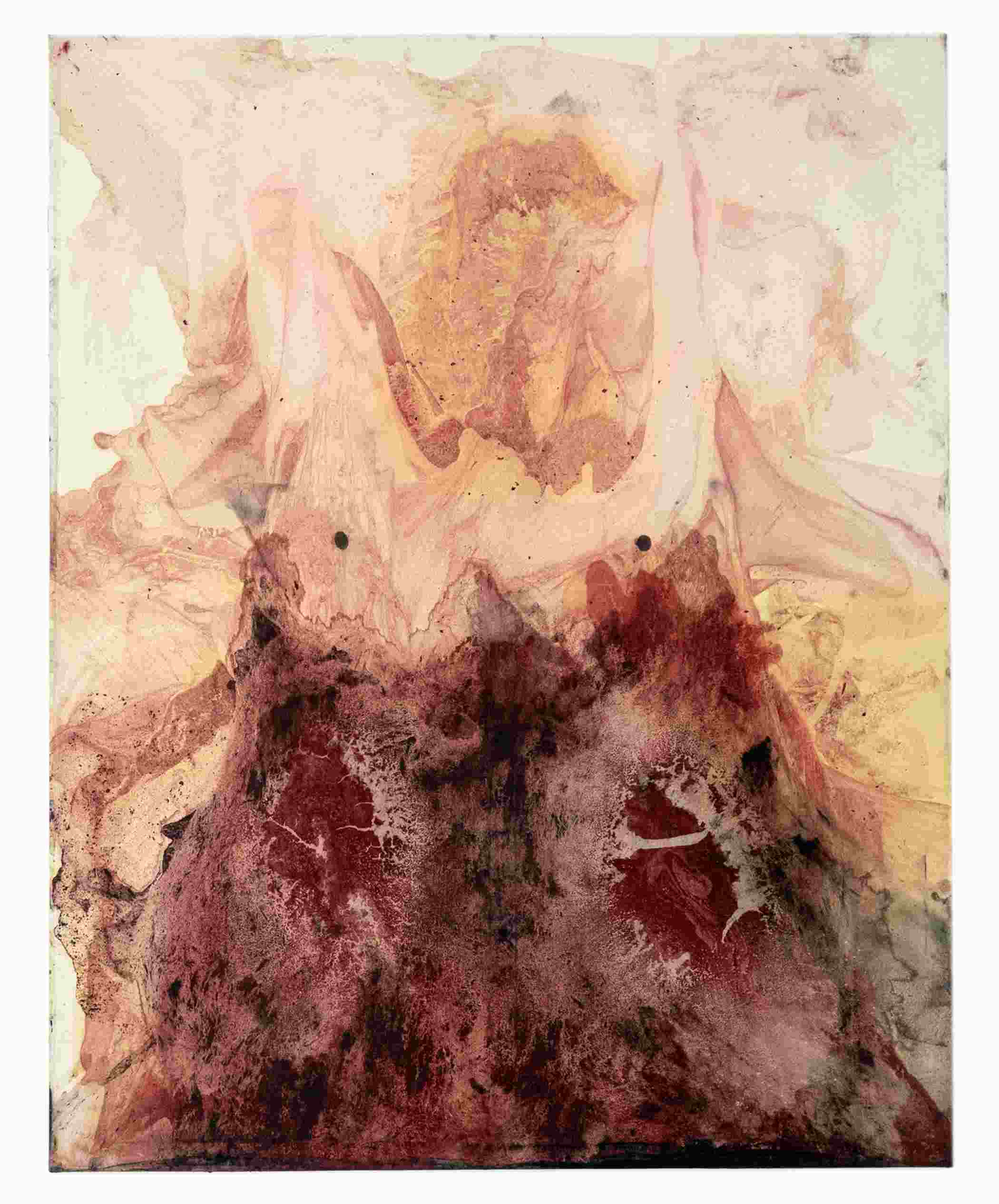 obraz abstrakcyjny w kolorach różu i czerwieni
